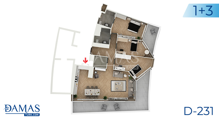Damas Project D-231 in Istanbul - Floor plan picture  03