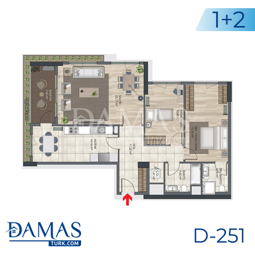 Damas Project D-251 in Istanbul - Floor plan picture 03