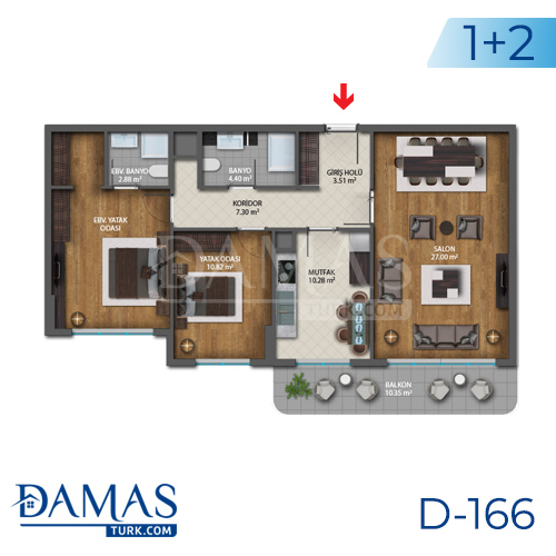 Damas Project D-166 in Istanbul - Floor plan picture  04