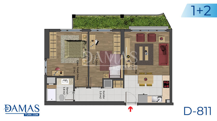 Damas Project D-811 in Istanbul - Floor plan picture 04