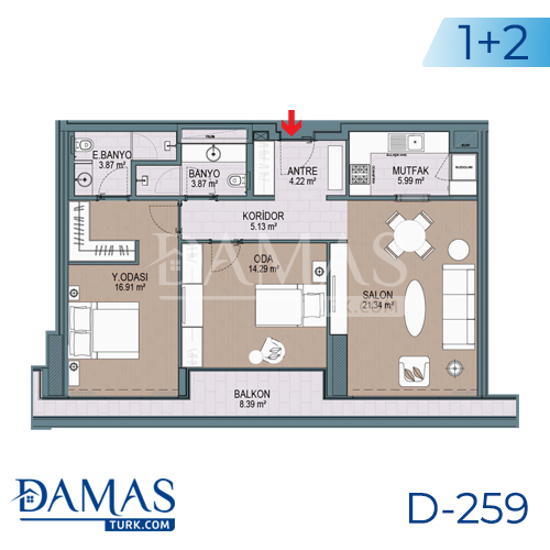 Damas Project D-259 in Istanbul - Floor plan picture 04