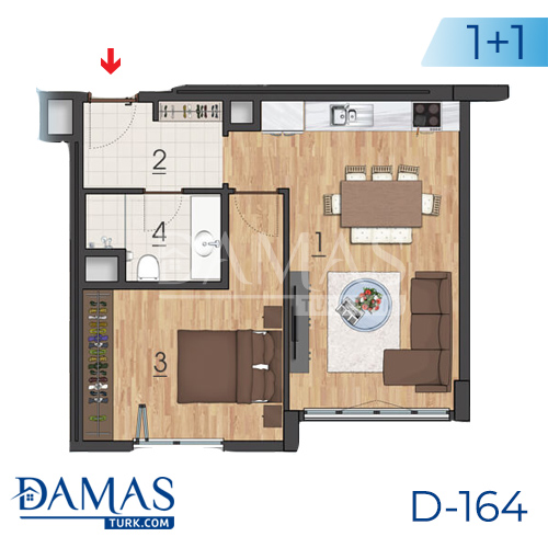 Damas Project D-164 in Istanbul - Floor plan picture 04