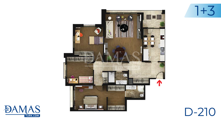 Damas Project D-219 in Istanbul - Floor plan picture  04