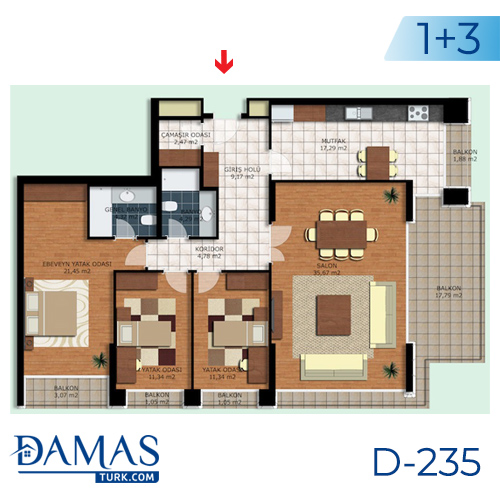 Damas Project D-235 in Istanbul - interior picture  04