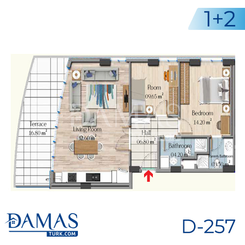 Damas Project D-257 in Istanbul - Floor plan picture 04