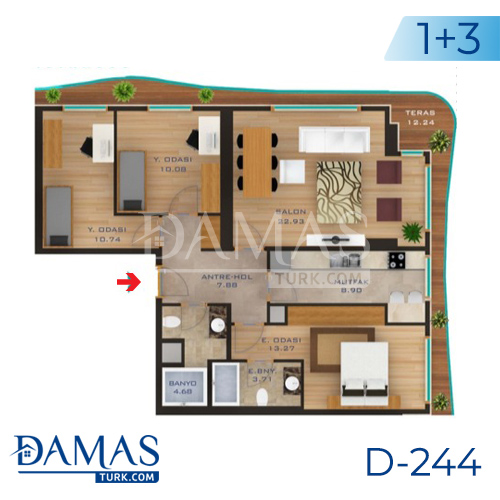 Damas Project D-244 in Istanbul - Floor plan picture  04