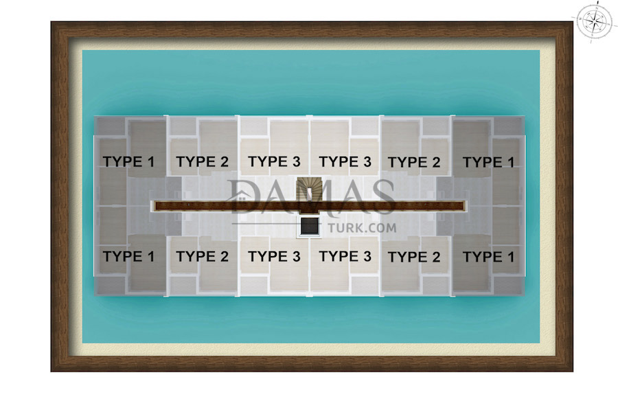 Damas 601 Project in Antalya - Plan picture 04