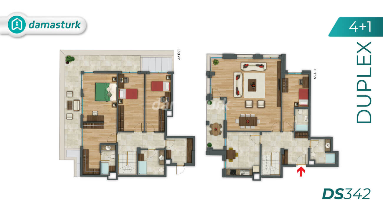 Apartments for sale in Turkey - Istanbul - the complex DS342 || damasturk Real Estate Company 07