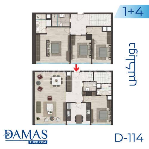Damas Project D-114 in Istanbul - Floor plan picture 05