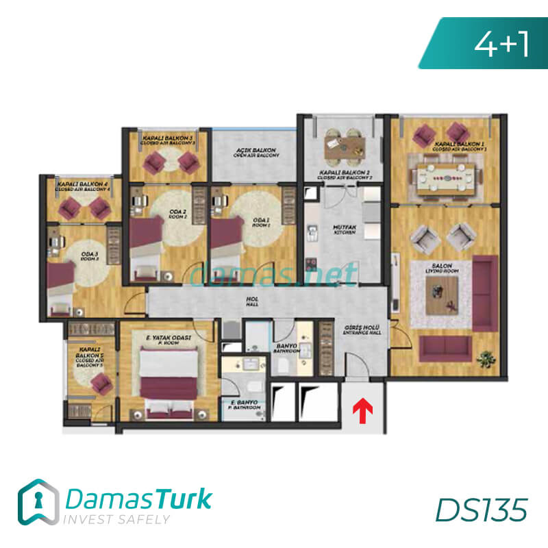 Istanbul Property - Turkey Real Estate - DS135 || damas.net 04
