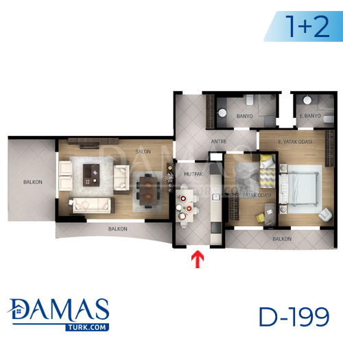 Damas Project D-199 in Istanbul - Floor plan picture  04