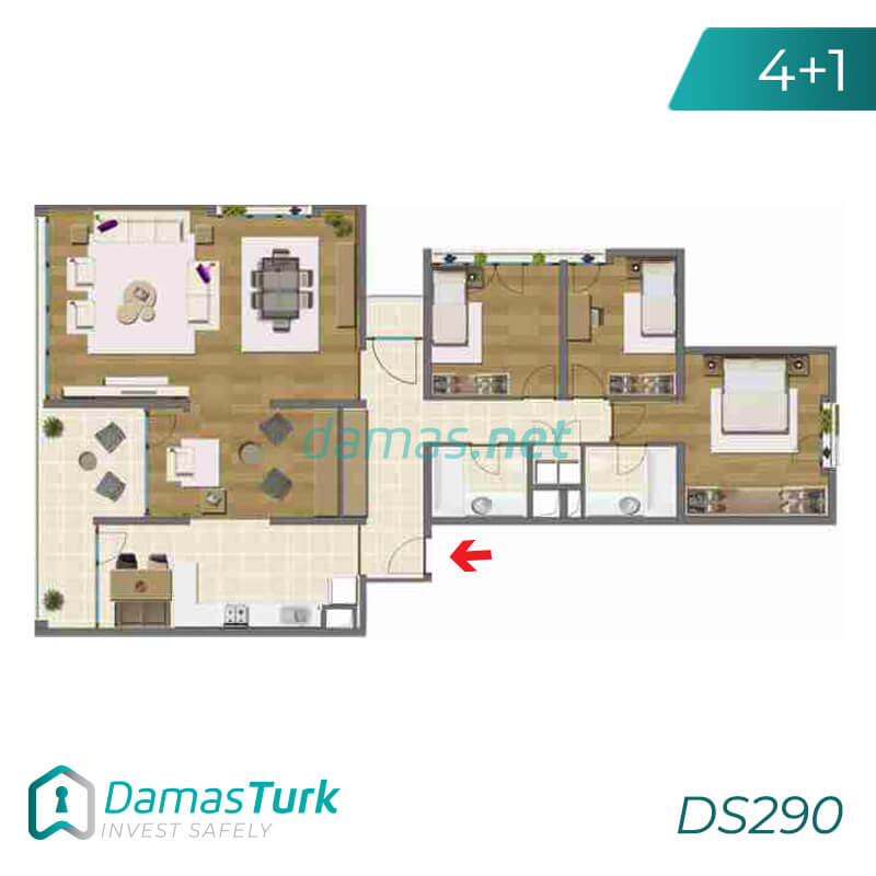 Ready to move apartment complex with green views in Istanbul, Asia DS290 || damas.net 04