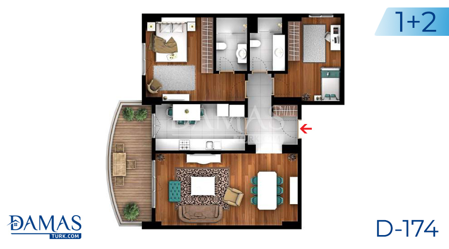 Damas Project D-174 in Istanbul -Floor plan picture  04