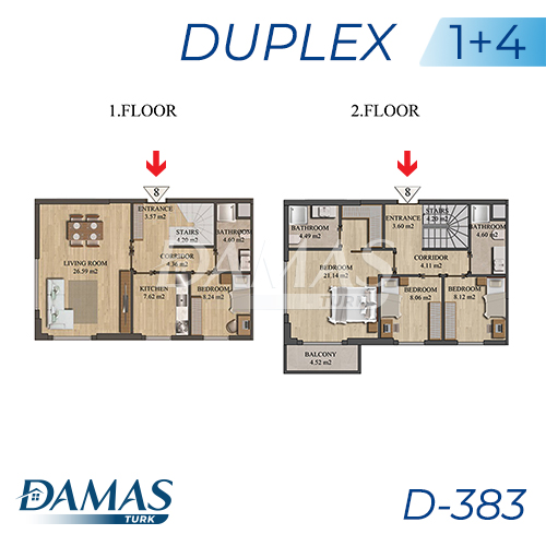 Damas Project D-383 in Istanbul - Floor Plan picture 05