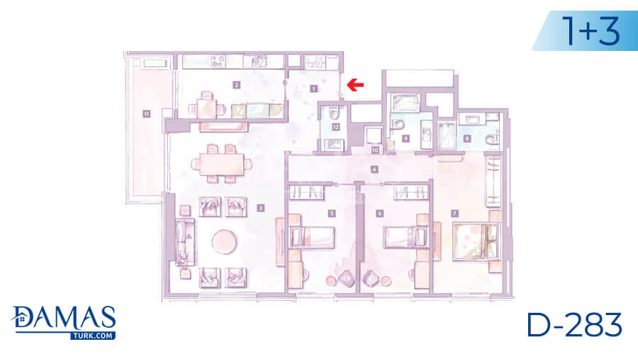 Damas Project D-283 in Istanbul - Floor plan picture 04
