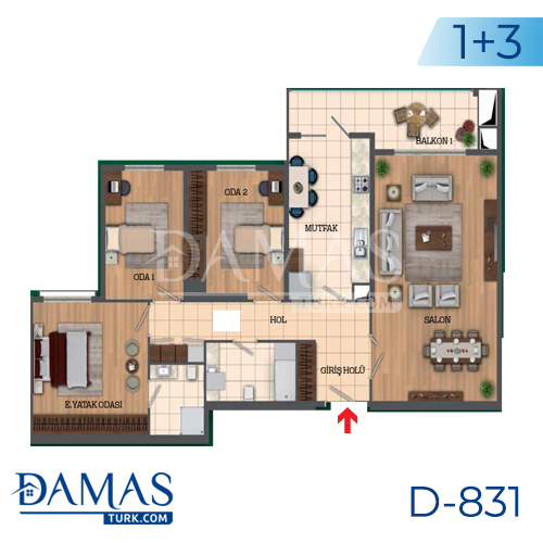 Damas Project D-831 in Istanbul - Floor Plan picture 04
