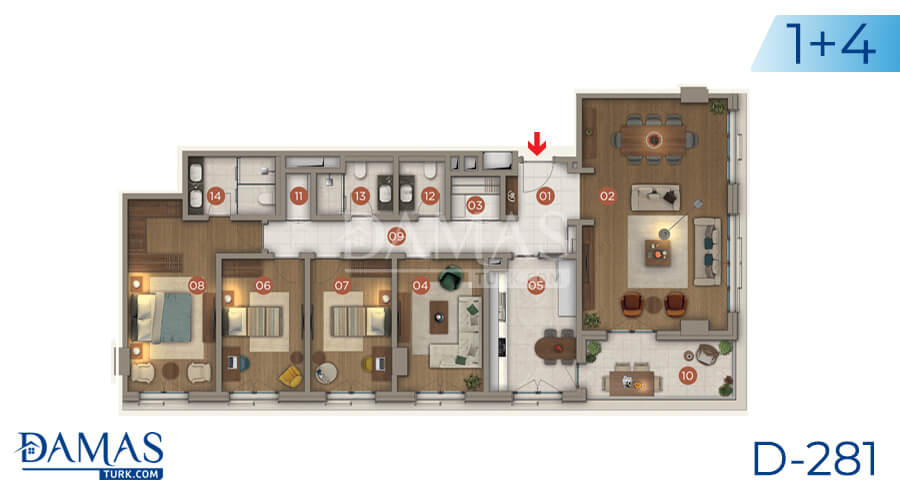 Damas Project D-281 in Istanbul - Floor plan picture 04