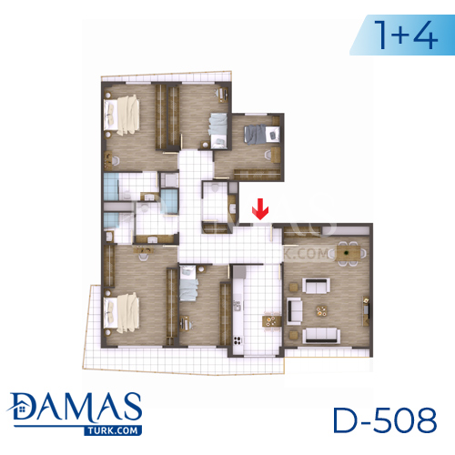 Damas Project D-508 in kocaeli - Floor plan picture 04