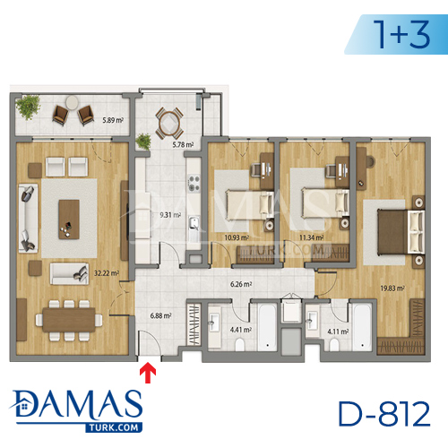 Damas Project D-806 in Istanbul - Floor plan picture 04