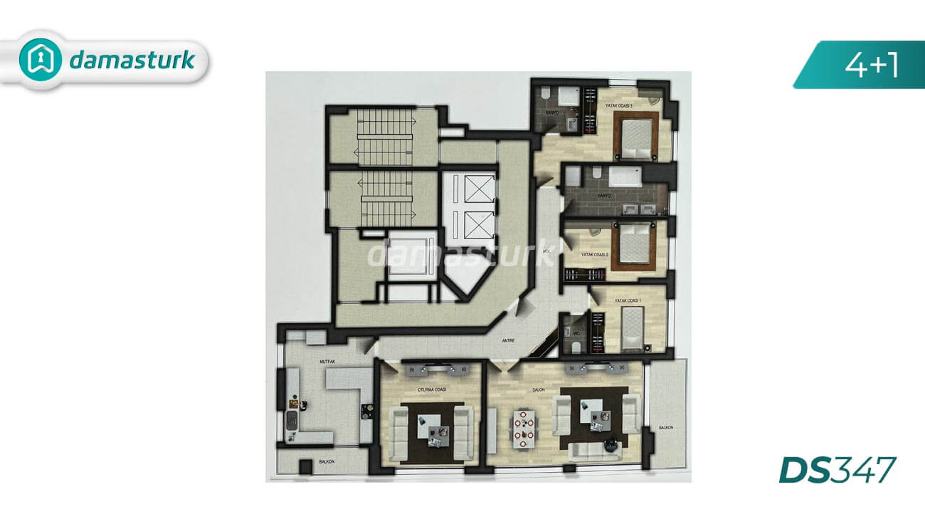 Apartments for sale in Turkey - Istanbul - the complex DS347 || damasturk Real Estate Company 04