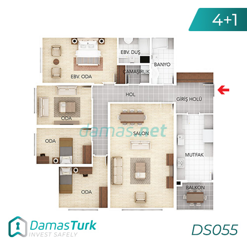 Istanbul Property - Turkey Real Estate - DS055 || damas.net 03