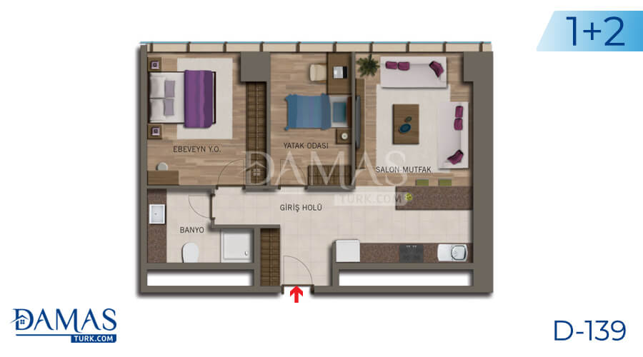 Damas Project D-138 in Istanbul - Floor plan picture 04