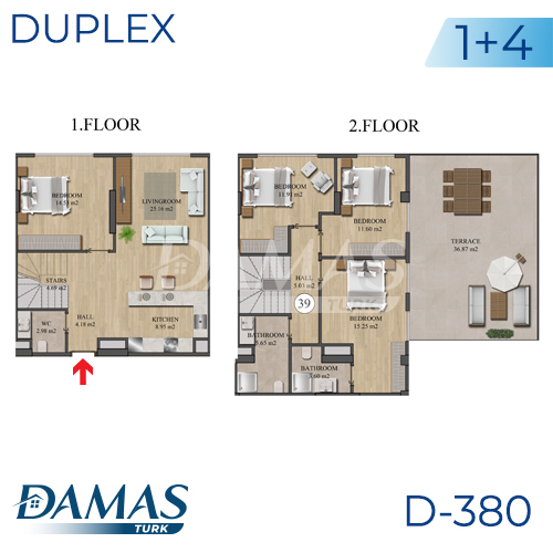 Damas Project D-836 in Istanbul - Floor Plan picture 05