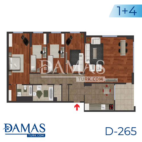 Damas Project D-265 in Istanbul - Floor plan picture 04