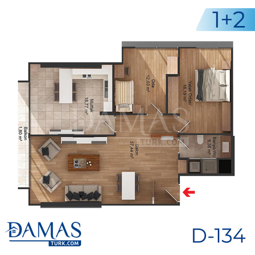 Damas Project D-134 in Istanbul - Floor plan picture 04