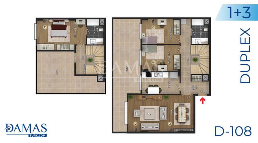 Damas Project D-108 in Istanbul - Floor plan picture 04