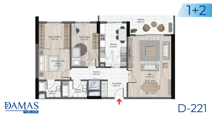 Damas Project D-221 in Istanbul - Floor plan picture  04