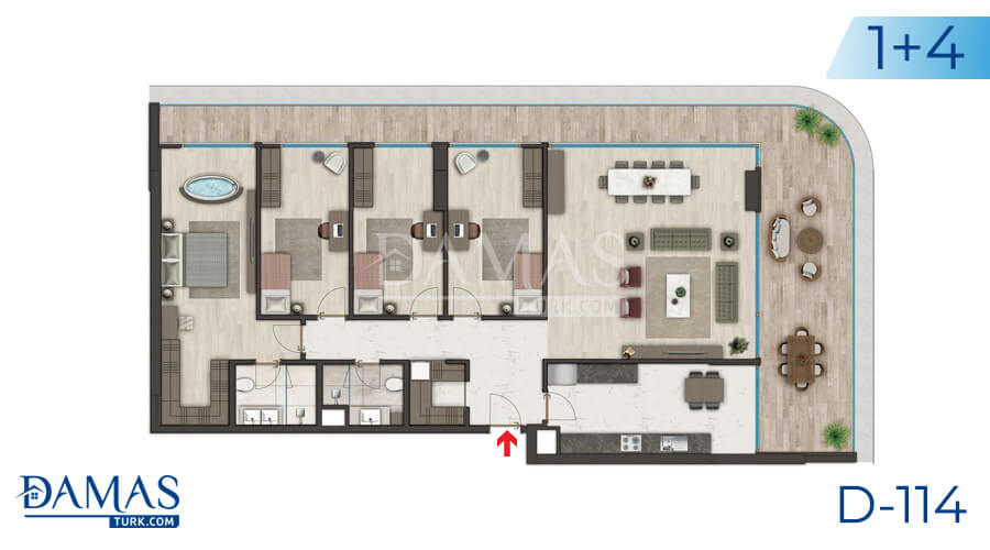 Damas Project D-114 in Istanbul - Floor plan picture 04