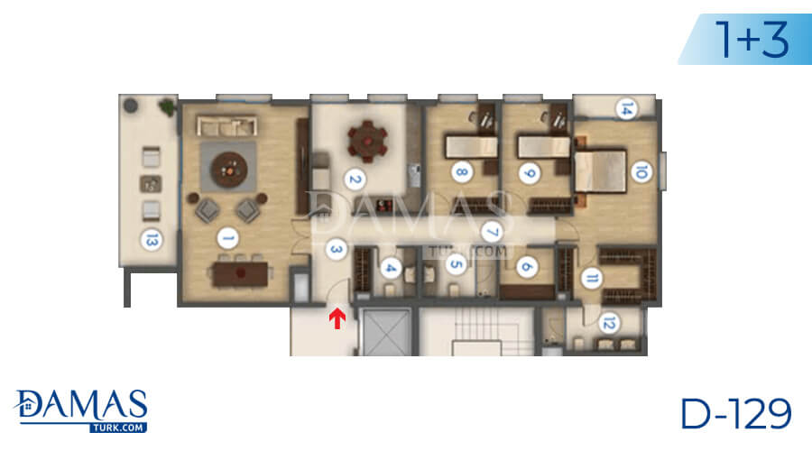Damas Project D-129 in Istanbul - Floor plan picture 04