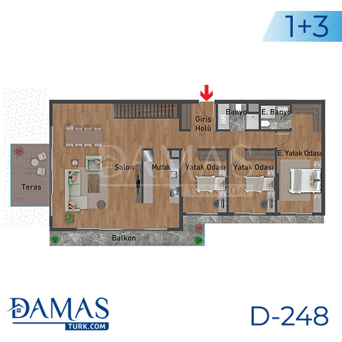 Damas Project D-248 in Istanbul - Floor plan picture 04