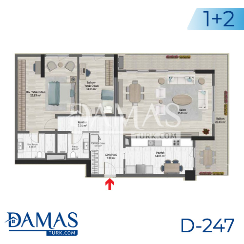 Damas Project D-247 in Istanbul - Floor plan picture 04