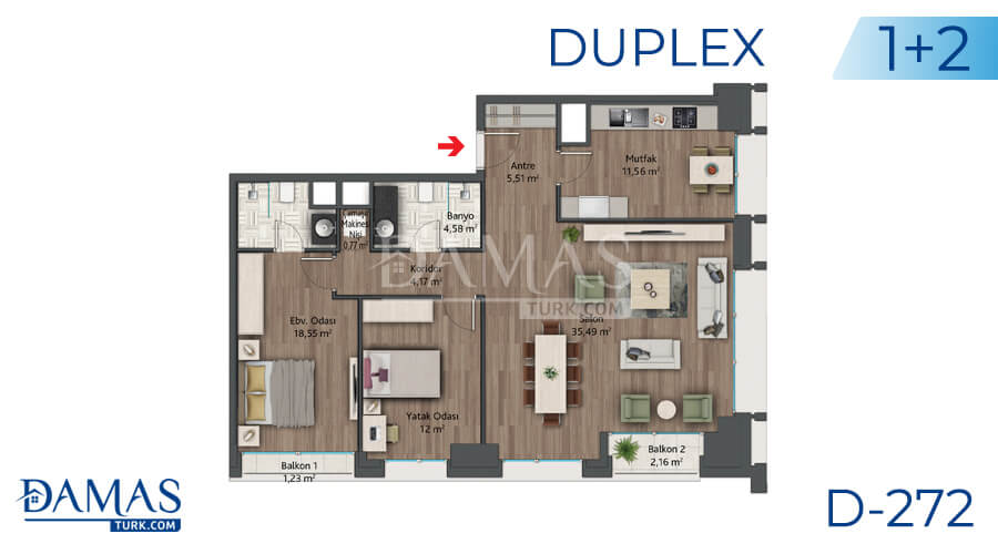 Damas Project D-272 in Istanbul - Floor plan picture 04