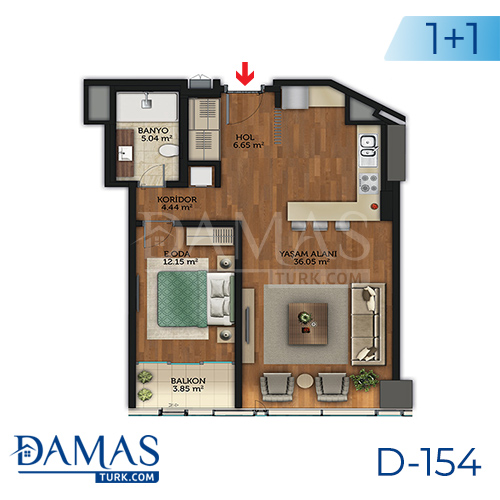 Damas Project D-154 in Istanbul - Floor plan picture 04