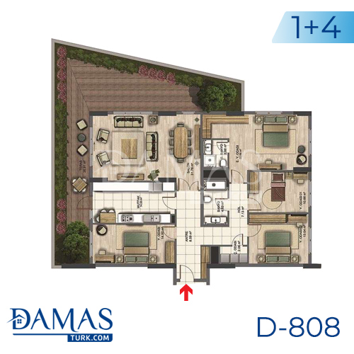 Damas Project D-808 in Istanbul - Floor plan picture 04