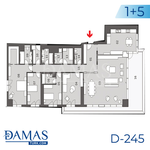 Damas Project D-245 in Istanbul - Floor plan picture  04