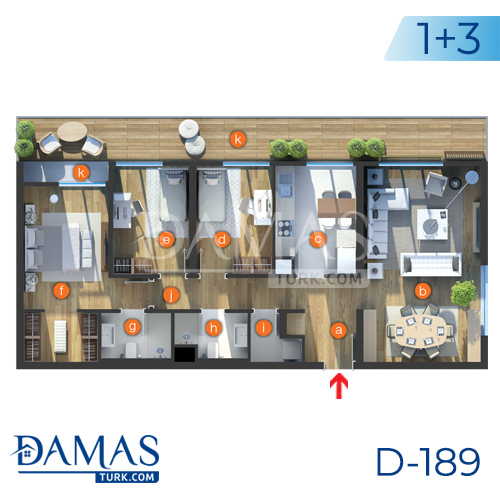 Damas Project D-189 in Istanbul - Floor plan picture  04