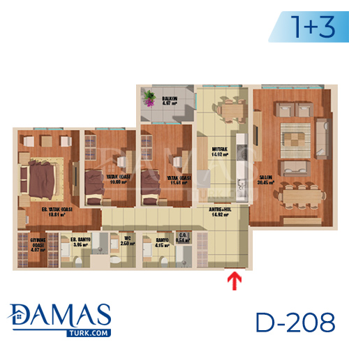 Damas Project D-208 in Istanbul - Floor plan picture  04