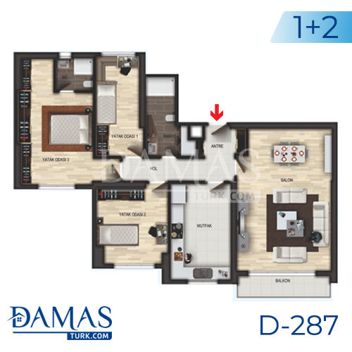 Damas Project D-287 in Istanbul - Floor plan picture 04