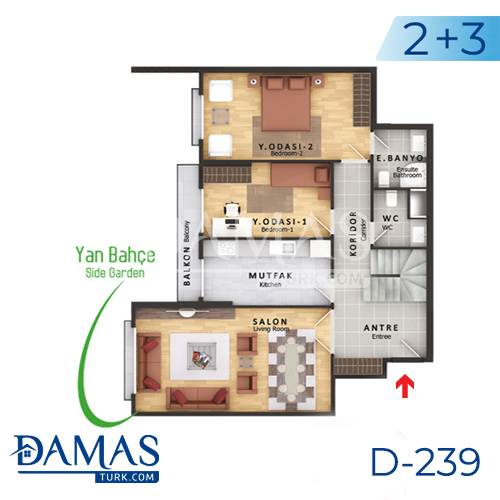 Damas Project D-239 in Istanbul - Floor plan picture  04