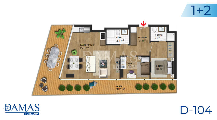Damas Project D-104 in Istanbul - Floor plan picture 04