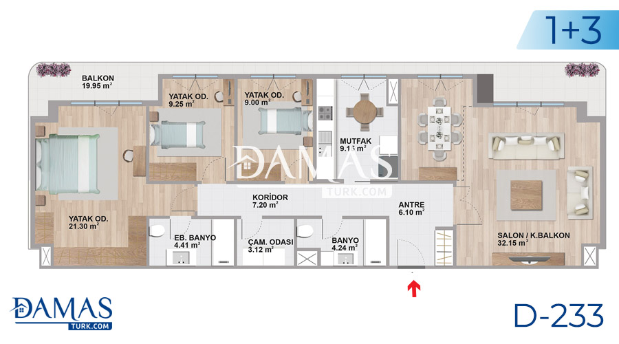 Damas Project D-233 in Istanbul - Floor plan picture  04
