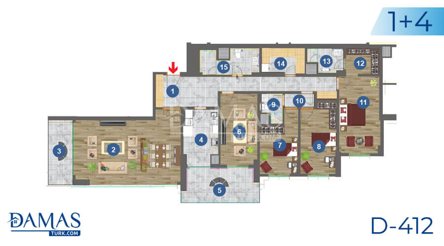 Damas Project D-412 in Trabzon - Floor plan picture 04
