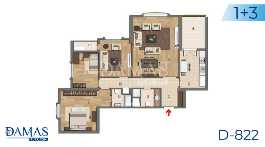 Damas Project D-822 in Istanbul - Floor plan picture 04