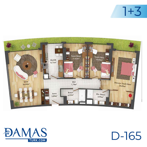 Damas Project D-165 in Istanbul - Floor plan picture  04