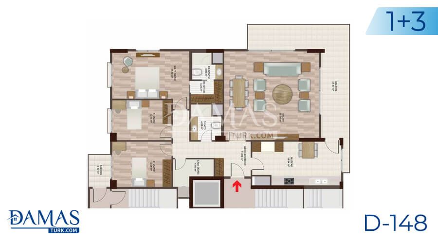 Damas Project D-148 in Istanbul - Floor plan picture 04
