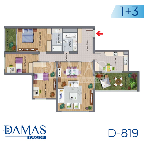 Damas Project D-819 in Istanbul - Floor plan picture 04